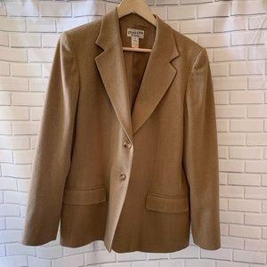 Pendleton Virgin Wool Fitted Tan Blazer Size 12